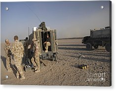 A Control Center For The Howitzer 105mm Acrylic Print