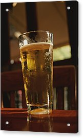 A Cool Glass Of Amber Beer Acrylic Print by Stephen St. John