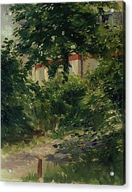 A Corner Of The Garden In Rueil Acrylic Print by Edouard Manet