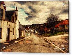 A Cotswold Village Acrylic Print by Lianne Schneider