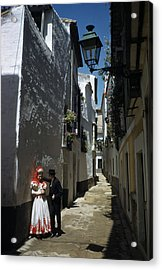 A Couple Lingers On The Sunny Side Acrylic Print by Luis Marden