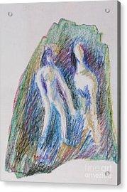 A Couple Acrylic Print by Nedunseralathan R