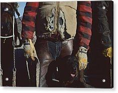 A Cowboy, Wearing A Ripped Jacket Acrylic Print by Joel Sartore