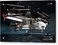 A Cv-22 Osprey Hangs In A Anechoic Acrylic Print by Stocktrek Images