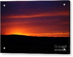 Acrylic Print featuring the photograph A Day Almost Ended by Julie Clements