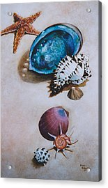 A Day At The Beach Acrylic Print by Eve Riser Roberts