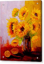 Acrylic Print featuring the painting A Day Of Sushine by Marie Hamby
