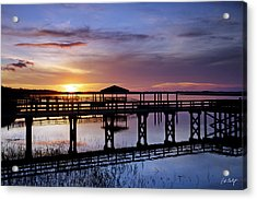 A December Sky Acrylic Print by Phill Doherty