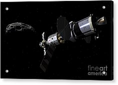 A Deep Space Mission Vehicle Acrylic Print by Walter Myers
