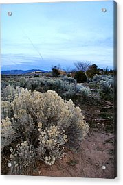 A Desert View After Sunset Acrylic Print