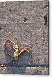 A Discarded Banana Is A Joy Forever Acrylic Print by Guy Ricketts