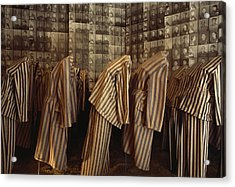 A Display Of Photographs And Uniforms Acrylic Print by James L. Stanfield