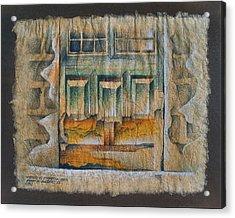 A Door In Compostela1982 Acrylic Print by Glenn Bautista