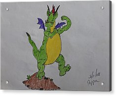 A Dragon Cartoon Character Acrylic Print by Swabby Soileau