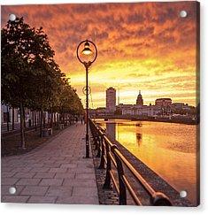 A Dublin Sunset Acrylic Print by Brendan O Neill