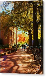 A Fall Day On Campus Acrylic Print