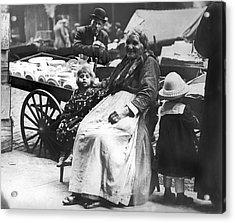 A Family And Their Push Cart Acrylic Print