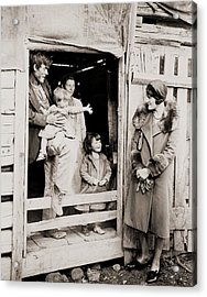 A Family Of Poor Sharecroppers Acrylic Print by Everett