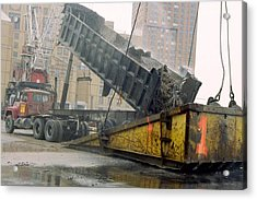 A Few Blocks From Ground Zero A Truck Acrylic Print
