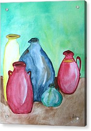 Acrylic Print featuring the painting A Few Good Pitchers by Alethea McKee
