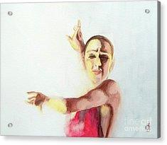 A Flamenco Dancer Acrylic Print