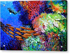 A Flash Of Life And Color Acrylic Print