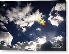 Acrylic Print featuring the digital art A Flight From Drama by Rosa Cobos