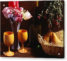 A Floral Display Acrylic Print by David Chapman