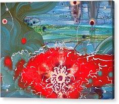 A Flower Heart Acrylic Print by Mudrow S