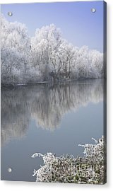 A Frosty River Severn Acrylic Print by Andrew  Michael