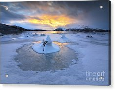 A Frozen Fjord That Is Part Acrylic Print by Arild Heitmann