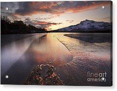 A Frozen Straumen Lake On Tjeldoya Acrylic Print by Arild Heitmann