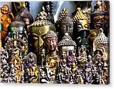 A Gathering Of Buddhas Acrylic Print by Edward Myers