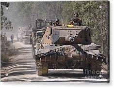 A German Designed Leopard As1 Gun Tank Acrylic Print by Stocktrek Images