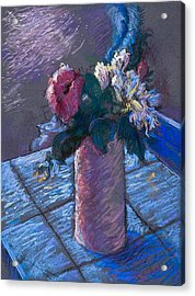 A Gift Of Peonies Acrylic Print by Ellen Dreibelbis