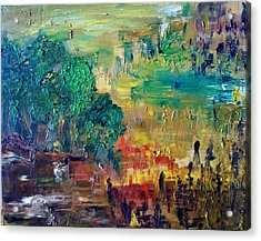 A Glade In The Woods Acrylic Print by Derya  Aktas