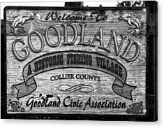 A Goodland Acrylic Print by David Lee Thompson