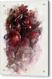 A Grape Mystery Acrylic Print by Rachel Christine Nowicki