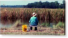 A Great Day Fishing Acrylic Print by Patricia Greer