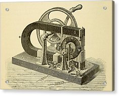 A Hand Cranked Device Onsisting Acrylic Print by Everett