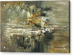 Acrylic Print featuring the painting A Hardened Case by Tatiana Iliina