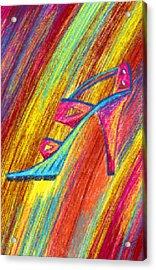 A High Heel Acrylic Print by Kenal Louis