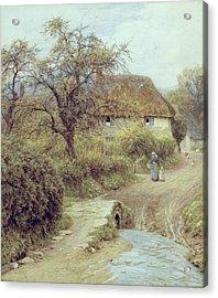 A Hill Farm Symondsbury Dorset Acrylic Print by Helen Allingham