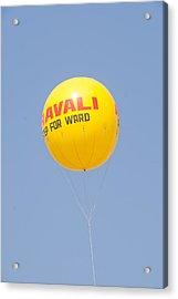 A Hot Air Balloon In The Blue Sky Acrylic Print by Ashish Agarwal