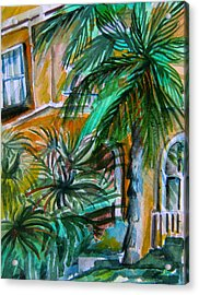 A Hotel In Sorrento Italy Acrylic Print by Mindy Newman