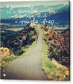 a Journey Of A Thousand Miles Must Acrylic Print