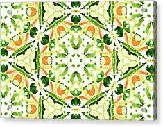 A Kaleidoscope Image Of Fresh Vegetables Acrylic Print by Andrew Bret Wallis