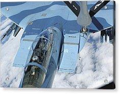 A Kc-135 Stratotanker Provides Acrylic Print by Stocktrek Images