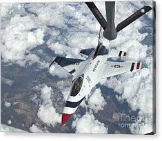 A Kc-135 Stratotanker Refuels An Air Acrylic Print by Stocktrek Images