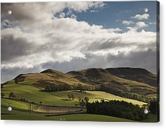 A Landscape With Rolling Hills And Acrylic Print by John Short